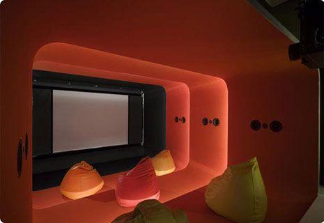 Bean Bag Cinema Room ! Amazeballs