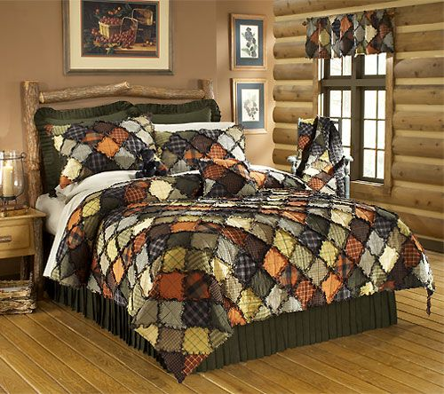 81 best Rag Quilts images on Pinterest   Sewing ideas, Bedspread ... : rustic quilt patterns - Adamdwight.com