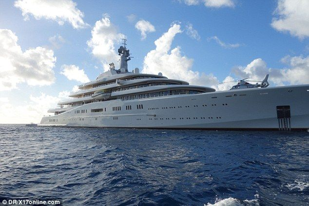 Battle Of The Mega Yachts Roman Abramovich Takes On Qatari Royal Billionaire As They Moor Their Enormous Private Ships In Caribbean Island St Barts