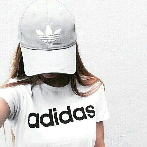 Imagen de adidas, girl, and white