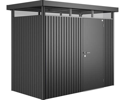 Gerätehaus biohort HighLine H1 Standardtür, 257 x 137 cm, dunkelgrau