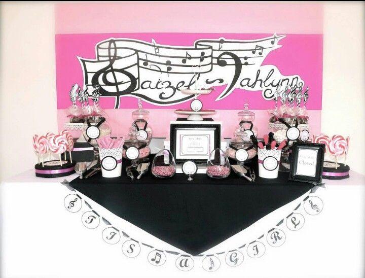 Musical Baby Shower (Pink U0026 Black) By Au0027lure Designs (facebook.
