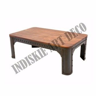 Industrial Riveted Metal Coffee Tables Home Furniture Living Room Furniture, View Industrial Riveted Metal Coffee Tables Home Furniture Living Room Furniture, INDUSTRIAL FURNITURE Product Details from INDISKIE ART DECO on Alibaba.com