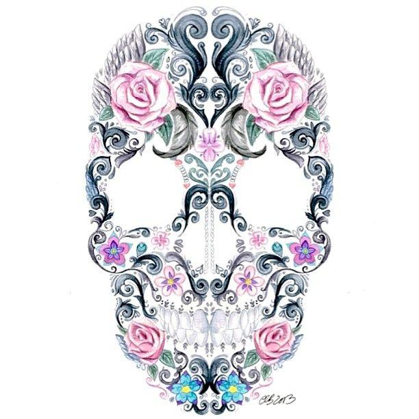Art Collective Magazine @art_collective_mag Pretty Skull #pai...Instagram photo   Websta (Webstagram)