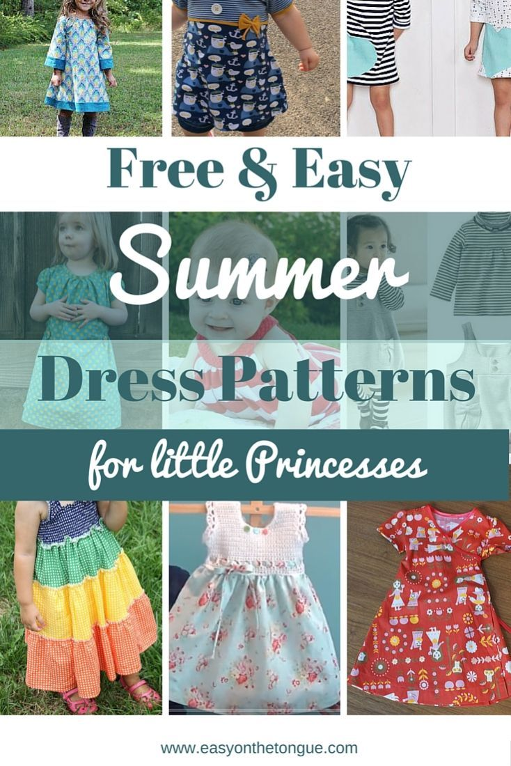 We compiled a list of the most adorable patterns to make your little Princess shine! Free and easy sewing patterns and inspiration. Get all the ideas at http://www.easyonthetongue.com