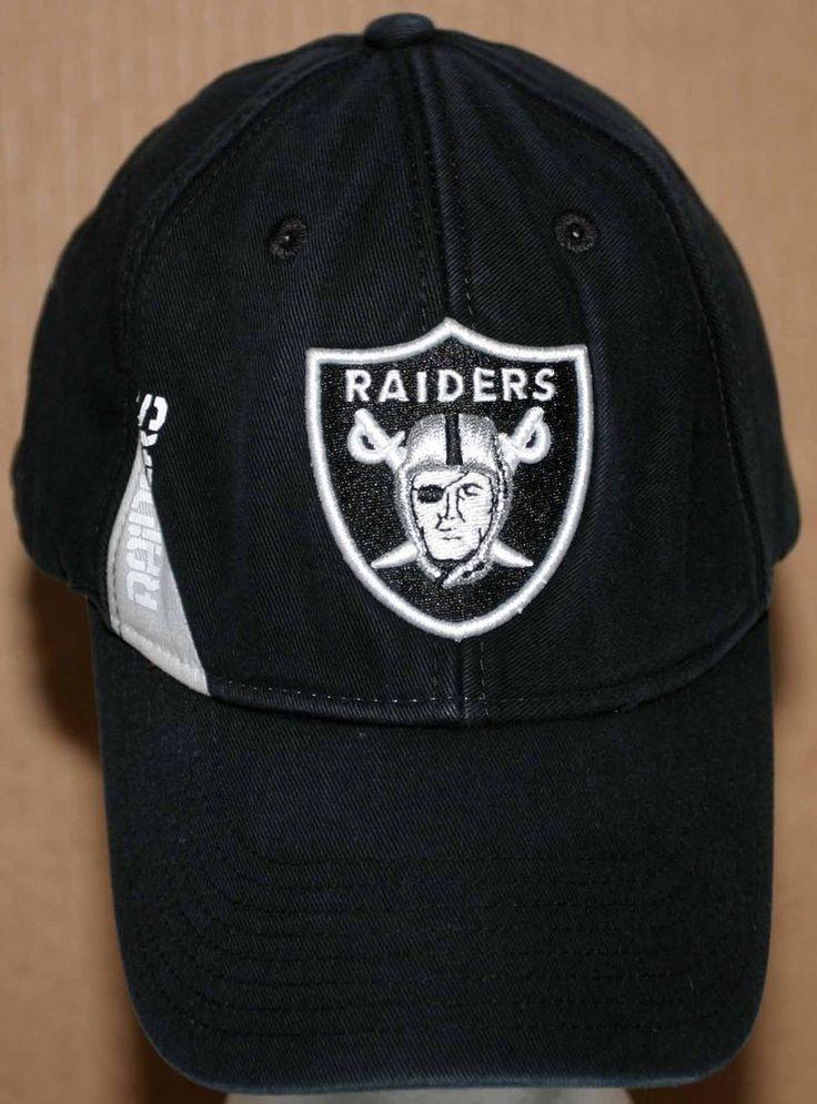 NFL Oakland Raiders Embroidered Cap Adult Size Adjustable Black #NFLTeamApparel #OaklandRaiders