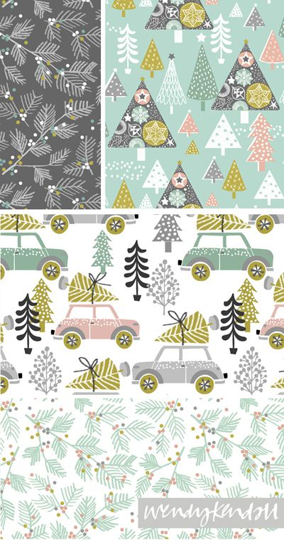 print & pattern: XMAS 2015 - wendy kendall                                                                                                                                                                                 More