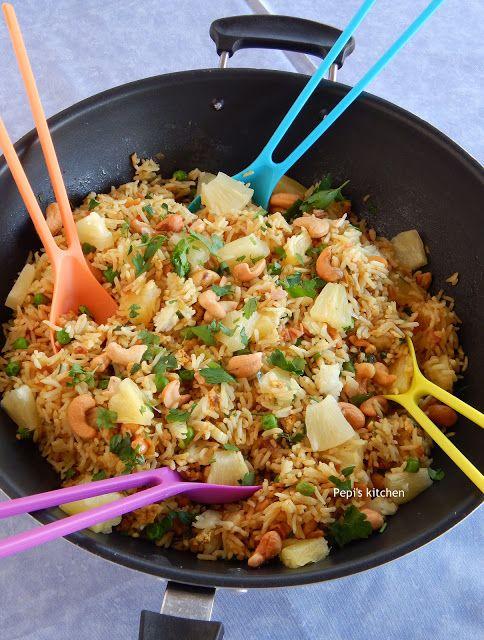 Τηγανιτό Ρύζι με Ανανά και Κάσιους…