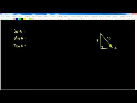 Secondaire 4 CST: Rapport trigonométrique (cos, sin, tan)