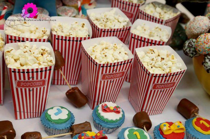 Popcorn Boxes on display