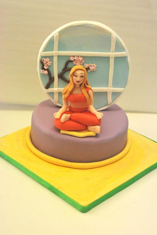 19 Best Cake Design For Yoga Theme Images On Pinterest