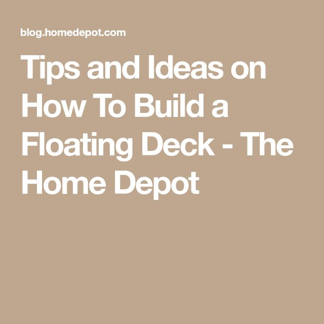 9776 best deck building 101 images on pinterest backyard for How to build a cheap floating deck