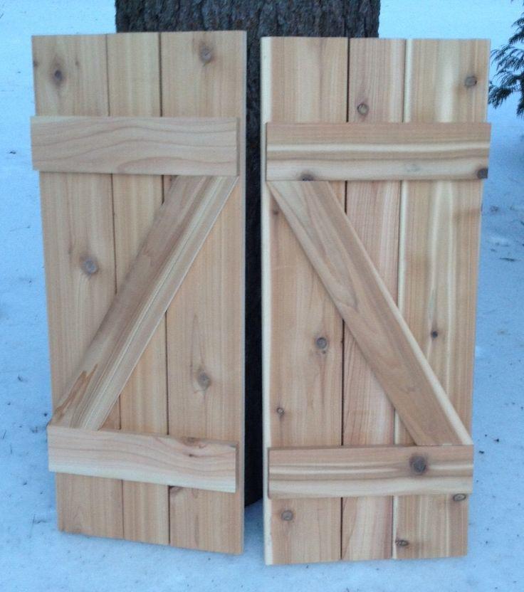 17 Best Ideas About Exterior Wood Shutters On Pinterest