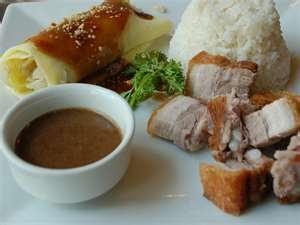 pan fried pork rice veggie wrap