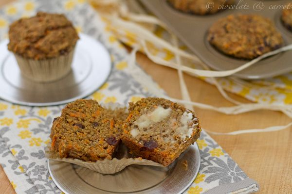 Wicked Healthy Carrot Cake Muffins! No white flour, no sugar... I believe I will be trying this! :)