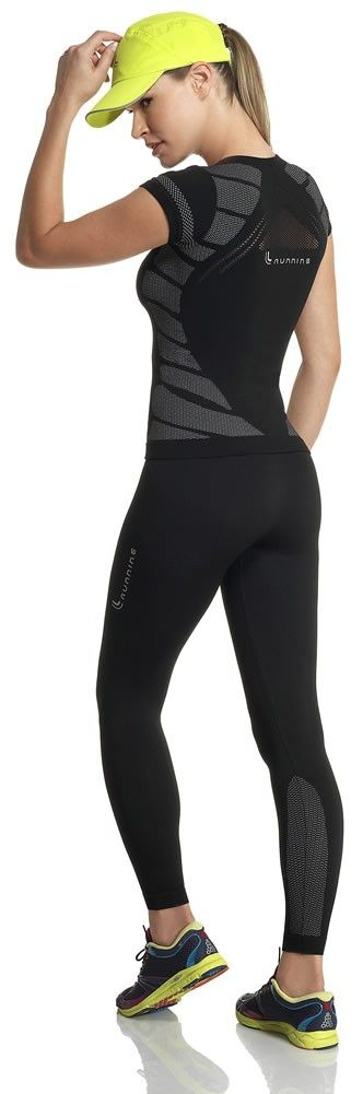 Womens Seamless Running Tee From Lupo Black