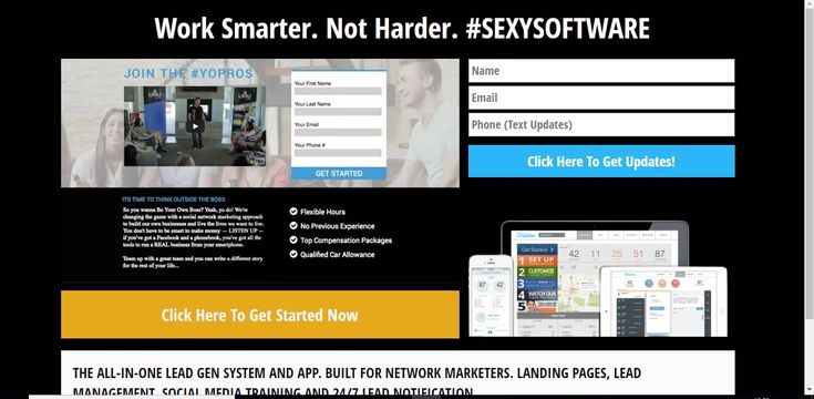 Work Smarter. Not Harder. #SEXYSOFTWARE  THE ALL-IN-ONE LEAD GEN SYSTEM AND APP. BUILT FOR NETWORK MARKETERS. LANDING PAGES, LEAD MANAGEMENT, SOCIAL MEDIA TRAINING AND 24/7 LEAD NOTIFICATION.