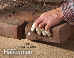 Enrole os dedos com fita atlética