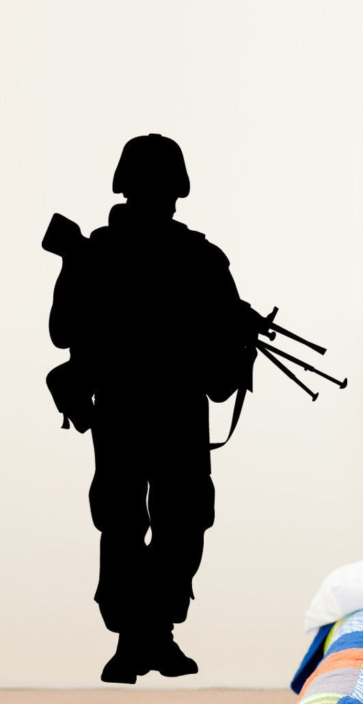 Haynes Military Soldier VII Silhouette Cutout Wall Decal