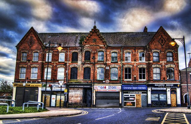 Shops in High Street, Runcorn Town (Going to rack and ruin!)