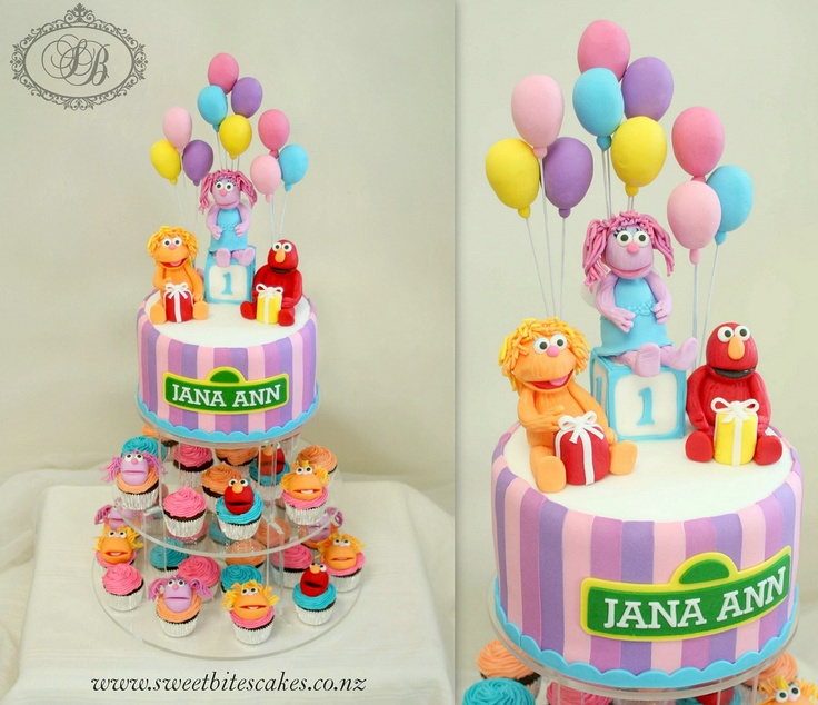 Best Images About Danielas St Birthday On Pinterest Sesame - Elmo and abby birthday cake