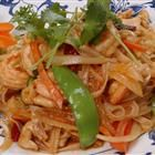 Thia Chicken with Rice Noodles Recipe.  I think I'll stir fry some veggies in there too...