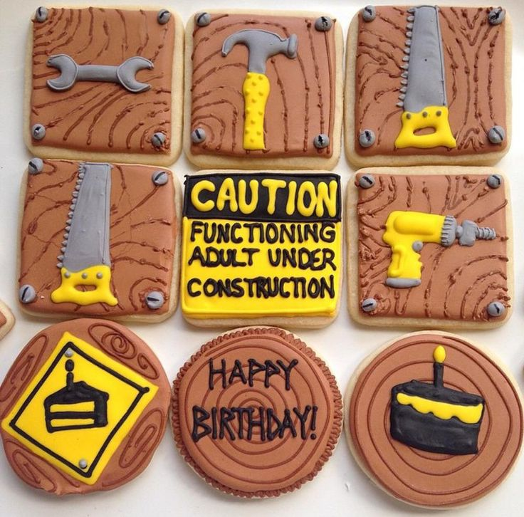 Construction Tool Birthday Cookies | Cookie Connection
