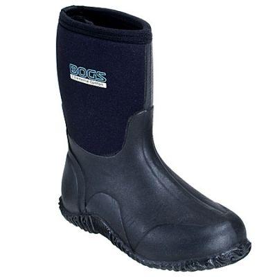 Bogs Women's 61152 Waterproof Insulated Black Rubber Work Boots