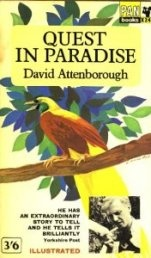 Alana T. suggests: Quest in Paradise and Quest Under Capricorn, by David Attenborough, each about 3 hours long.  Listen to one of the world's best naturalists as he describes his travels through New Guinea and Australia.  He is well known for his TV miniseries (e.g. Life of Birds, Planet Earth, Frozen Planet, etc.).  Versions released in the U.S. utilize American narrators (losing much character!), but these audiobooks retain the author's own remarkable, passionate voice.