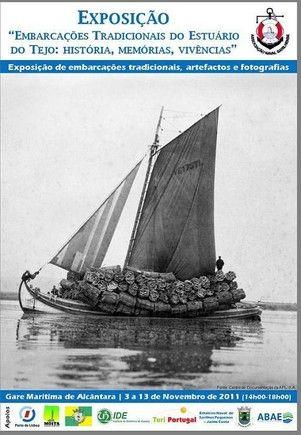 Tejo cartaz barcos tradicionais exposição