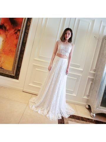 Elegant Juweel Kant Applique Bruidsjurk 2016