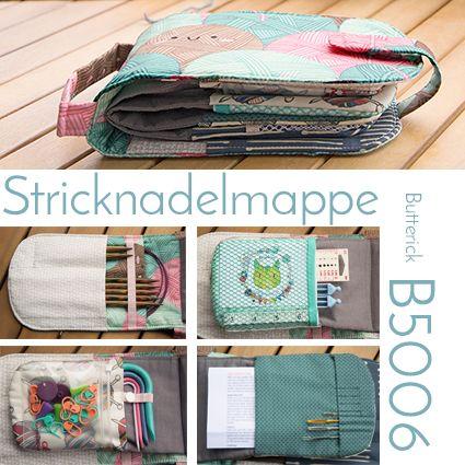 Round Knitting Needle Case von Butterick umfunktioniert als Strick-und Häkeltasche