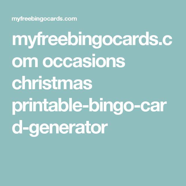 myfreebingocards.com occasions christmas printable-bingo-card-generator