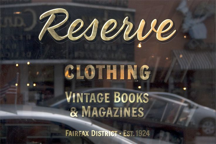 Gold Leaf Hand Painted Window Signs | Custom Tailors & Designers Association…
