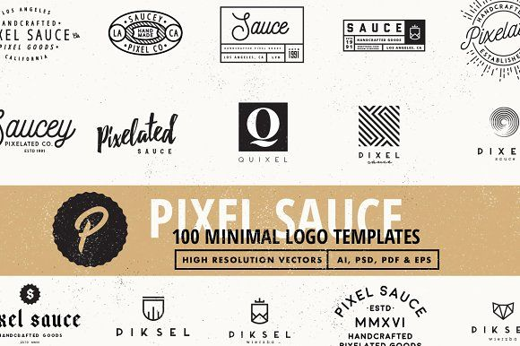 100 Vector Logo Templates by Pixel Sauce on @creativemarket