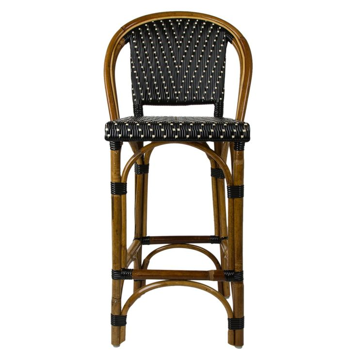 These Rattan Framed Bar Stools With Backs Are Part Of The