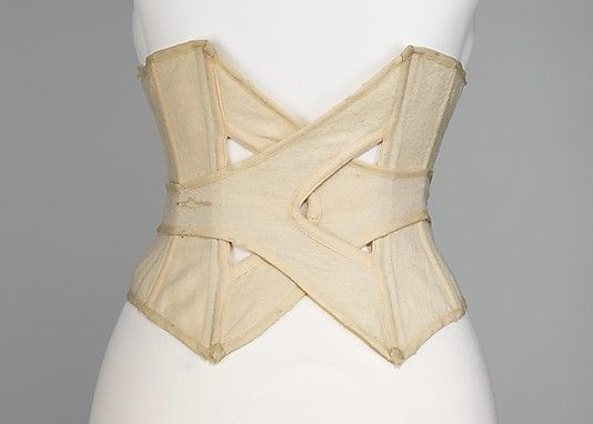 Metropolitan Museum of Art -- Beachwear Corset -- History is awesome, historical fashion is fascinating.
