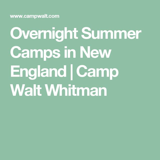 Overnight Summer Camps in New England | Camp Walt Whitman