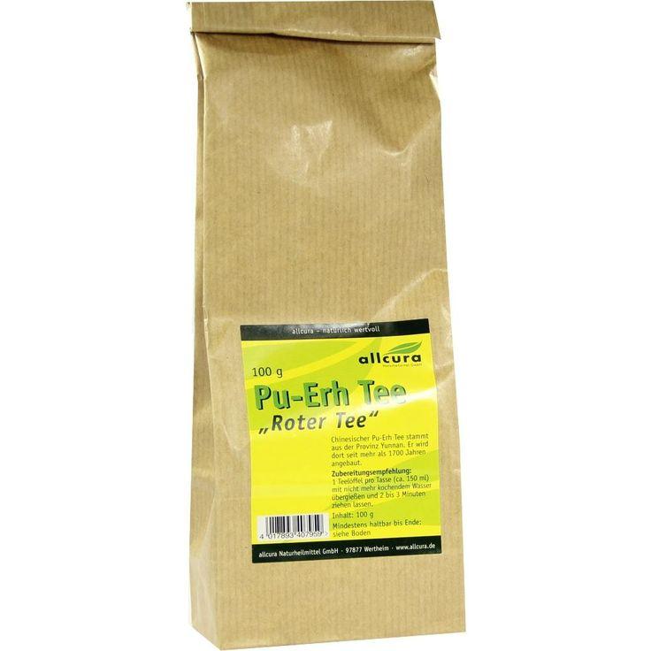 PU ERH Tee Roter Tee:   Packungsinhalt: 100 g Tee PZN: 00433791 Hersteller: allcura Naturheilmittel GmbH Preis: 3,04 EUR inkl. 7 % MwSt.…