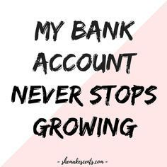 Money Affirmations to Manifest Abundance from Personal Finance Blog for Women, She Makes Cents | Law of Attraction http://www.loapower.net/sp/