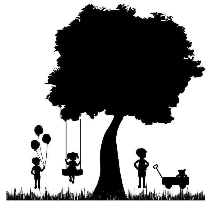 A Child's Garden silhouette 24 x 24