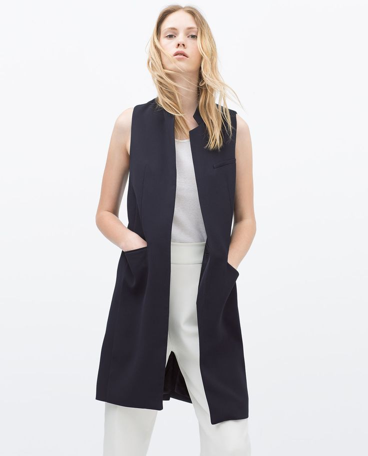 LONG TAILORED WAISTCOAT-View all-Jacket-WOMAN | ZARA United States