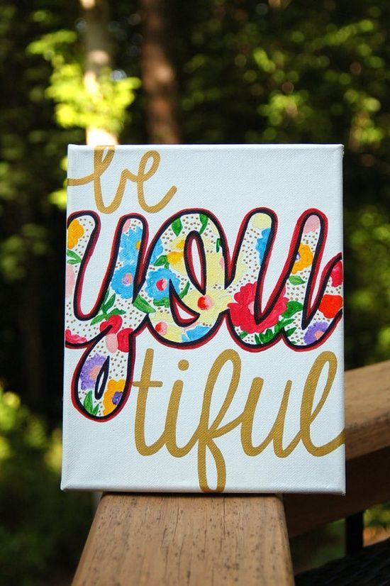Love this idea for a self-esteem craft. Many of the girls in my troop have self-esteem issues. I love this idea of doing the out-line on canvas and having the girls paint it to take home to remind themselves that they ARE beautiful.