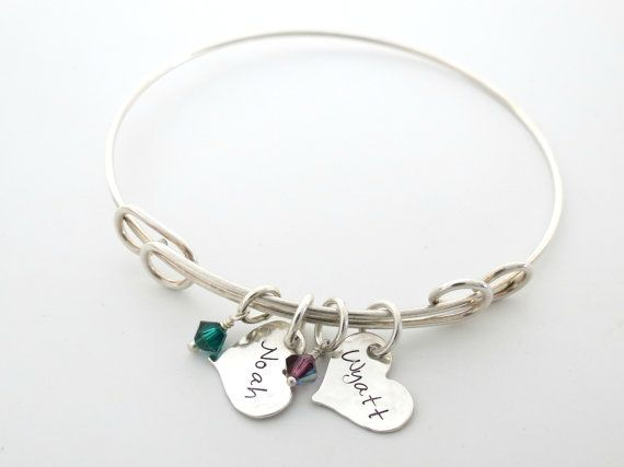 CHUNKY BALL BRACELET-PERSONALISED Birthday Bracelet-Womens Gift-Charm-Heart-Engraved,Mothers Day,Valentines Day,Christmas