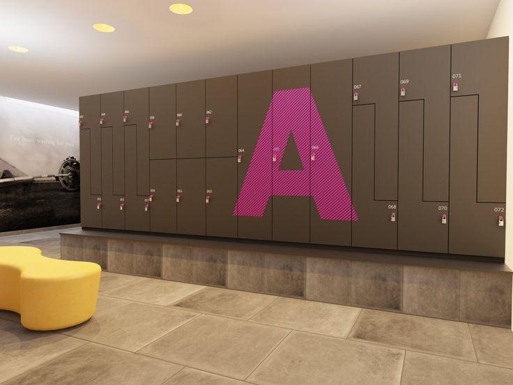 Design gym lockers