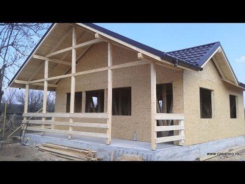 Constructii case panouri de lemn, la rosu - constructia casei de la Mere...