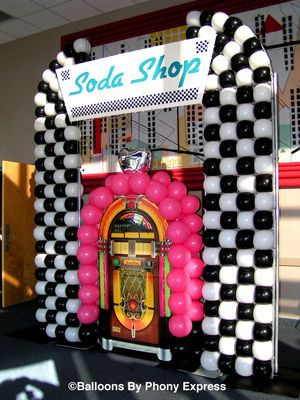 juke box decoration | Soda Shop with Juke Box creates a focal point for the lobby of an ...