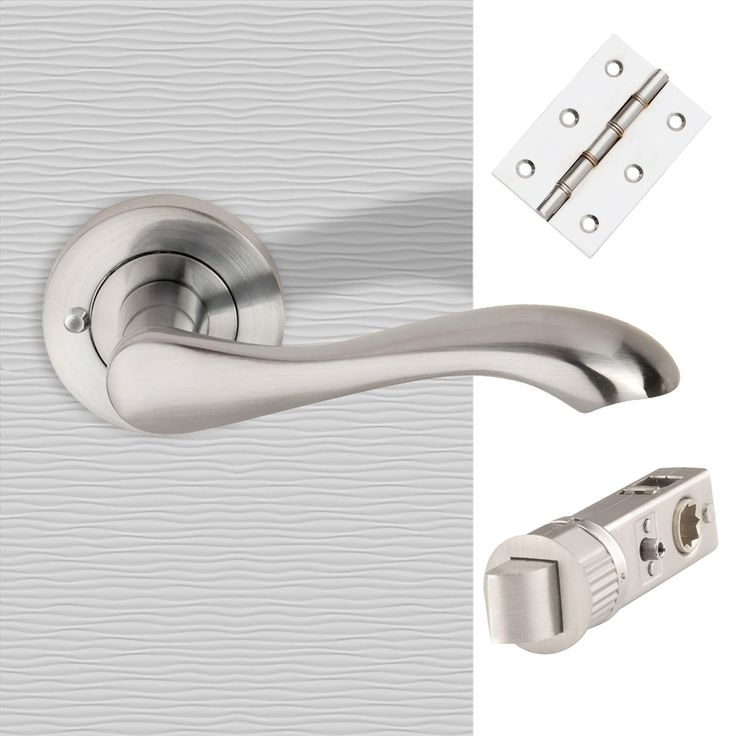 "SCP ""Venus"" Lever on Rose Push Button Privacy Facility c/w SmartLatch Pack. #doorhandlepack #bathroomhandlepack #privacyhandlepack"