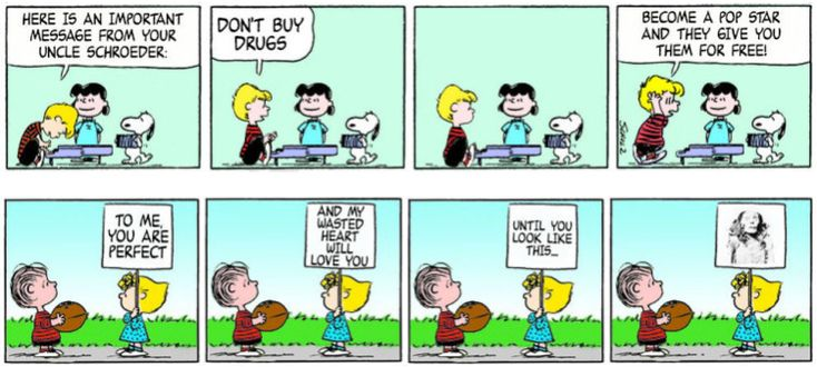 Quotes From the Film 'Love Actually' Paired With 'Peanuts' Comic Strips Go Together Surprisingly Well