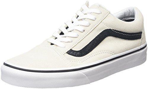 Vans Unisex-Erwachsene Old Skool Sneakers, Elfenbein (Reptile White/Black), 39 EU - http://on-line-kaufen.de/vans/39-eu-vans-damen-sneaker-old-skool-varsity-suede-de